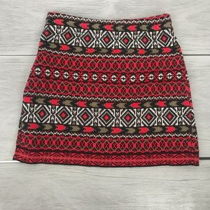 Écote printed knit mini skirt small